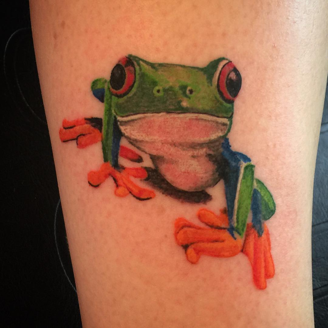 Scare Frog Tattoo Design