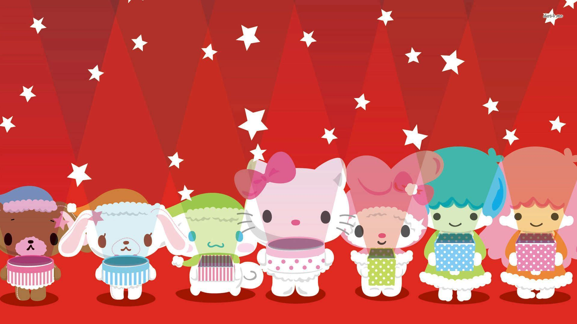 Simple Wallpaper Hello Kitty Friend - Stars-with-Hello-Kittes-Wallpaper  Pic_92669.jpg