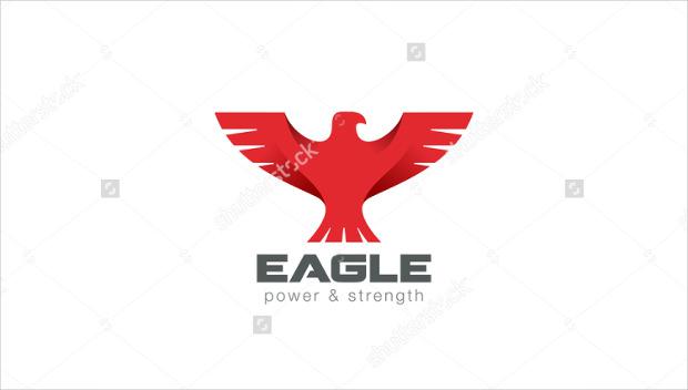red eagle bird abstract logo