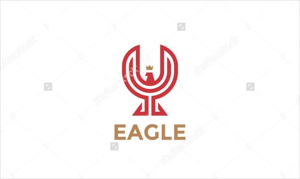 vector template of eagle logo