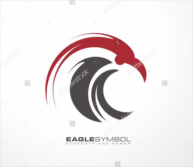 creative logo design of falcon
