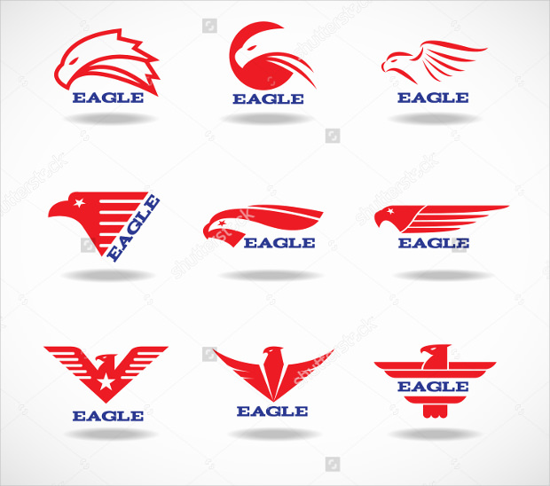 Red Eagle Vector Logo Template