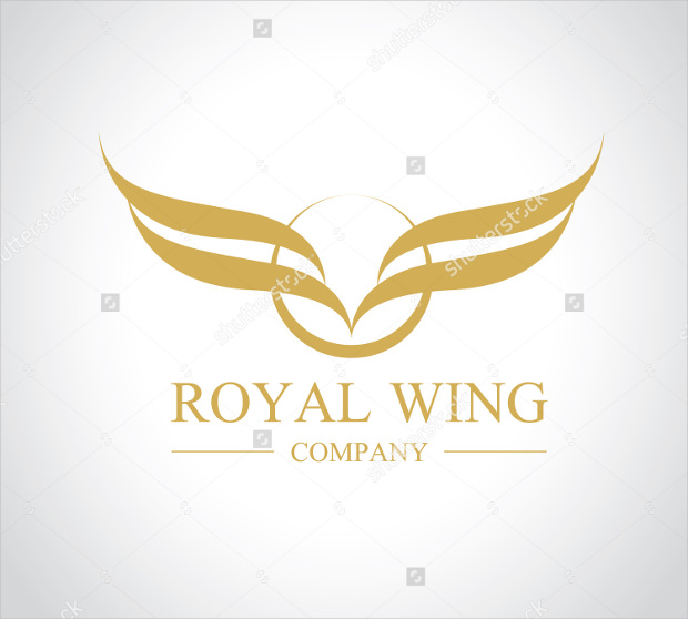 royal wings vector logo