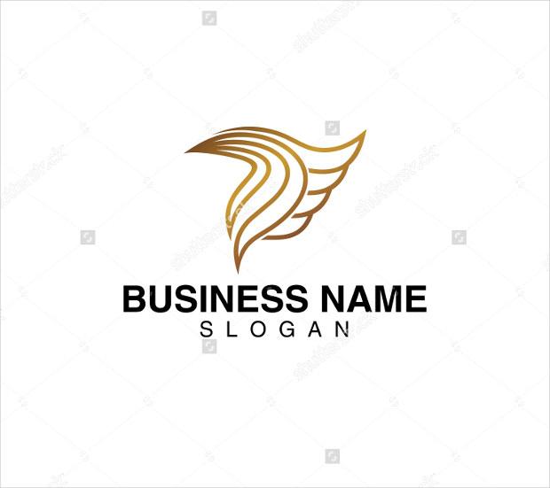 modern wings business logo