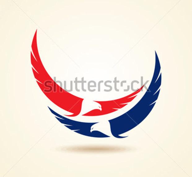 fabulous design logo of 2 eagles