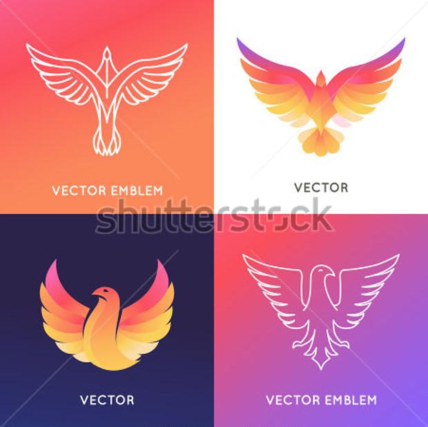 colorful vector abstract logos