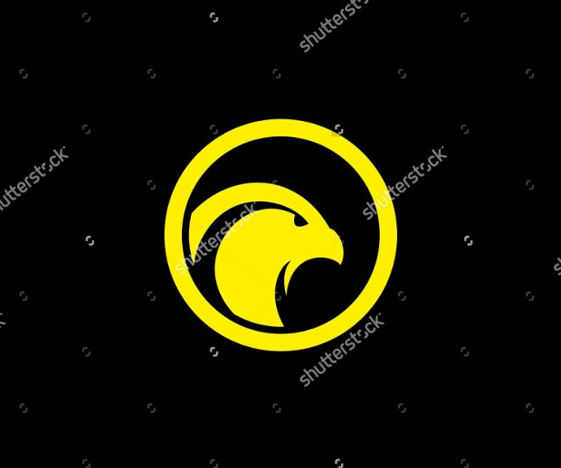 Yellow and Black Eagle Logo