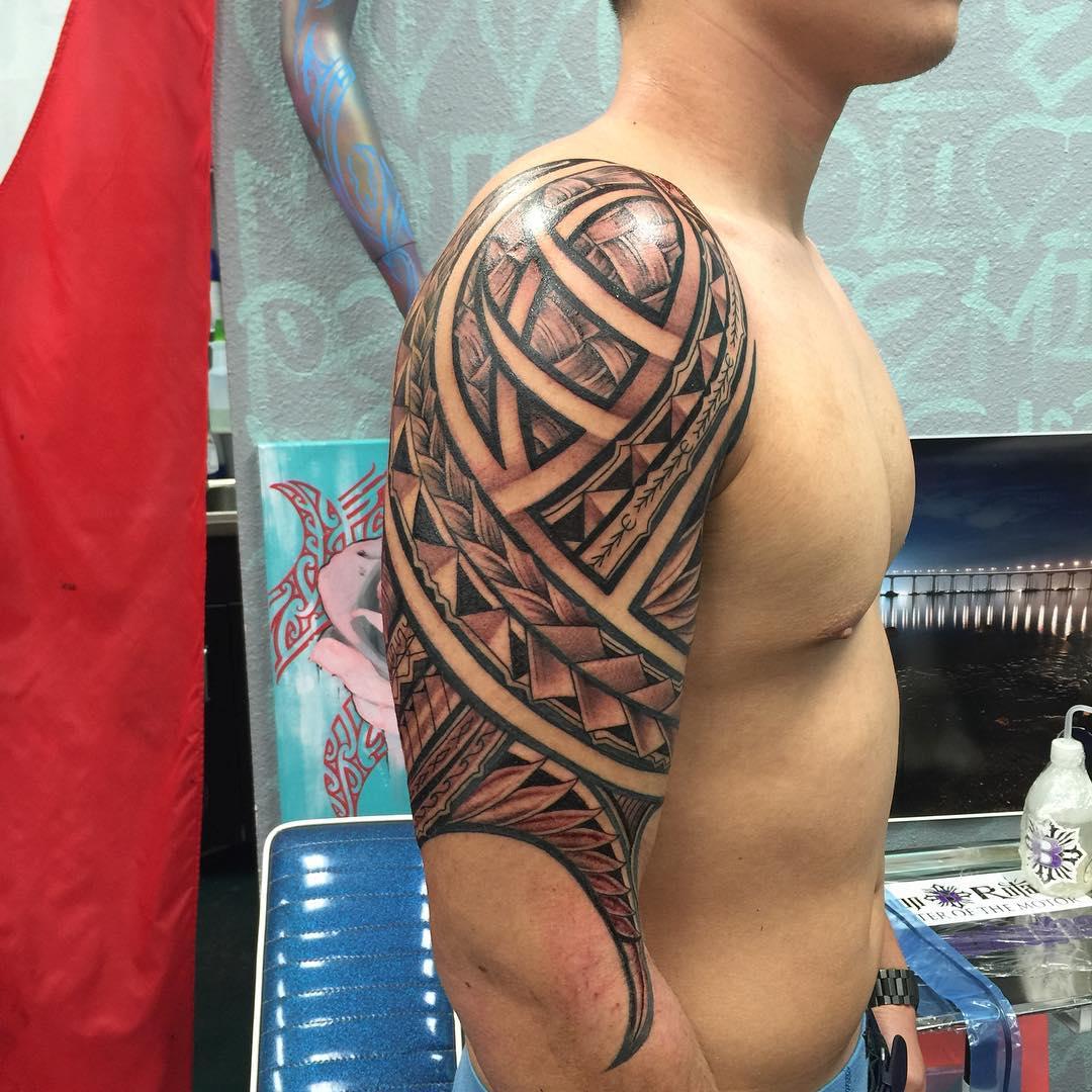 Colorful Hawaiian Tattoo