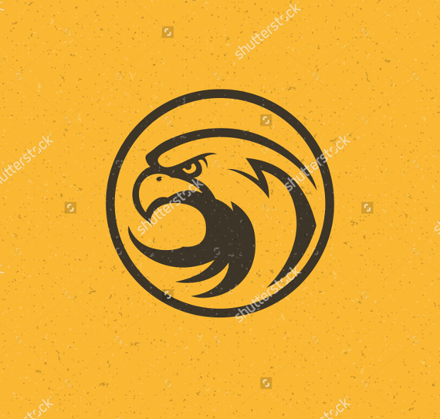 eagle head elegant logo