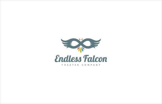 endless falcon logo design