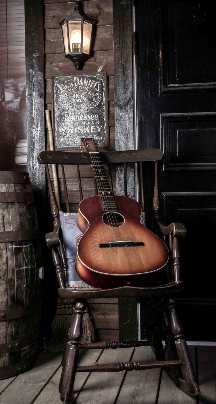 old guitar on chair iphone 6 plus hd wallpaper e1459231261917