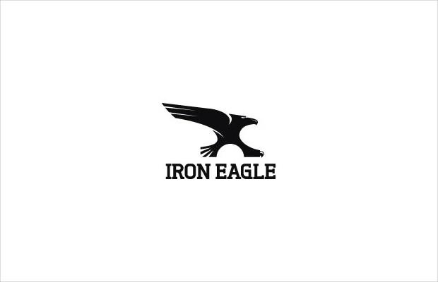 elegant iron eagle logo