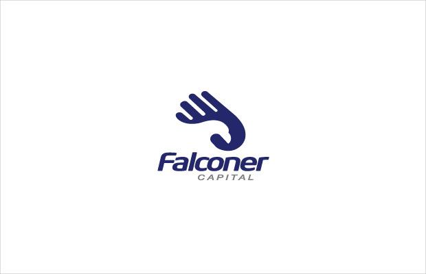 blue colored falconer logo