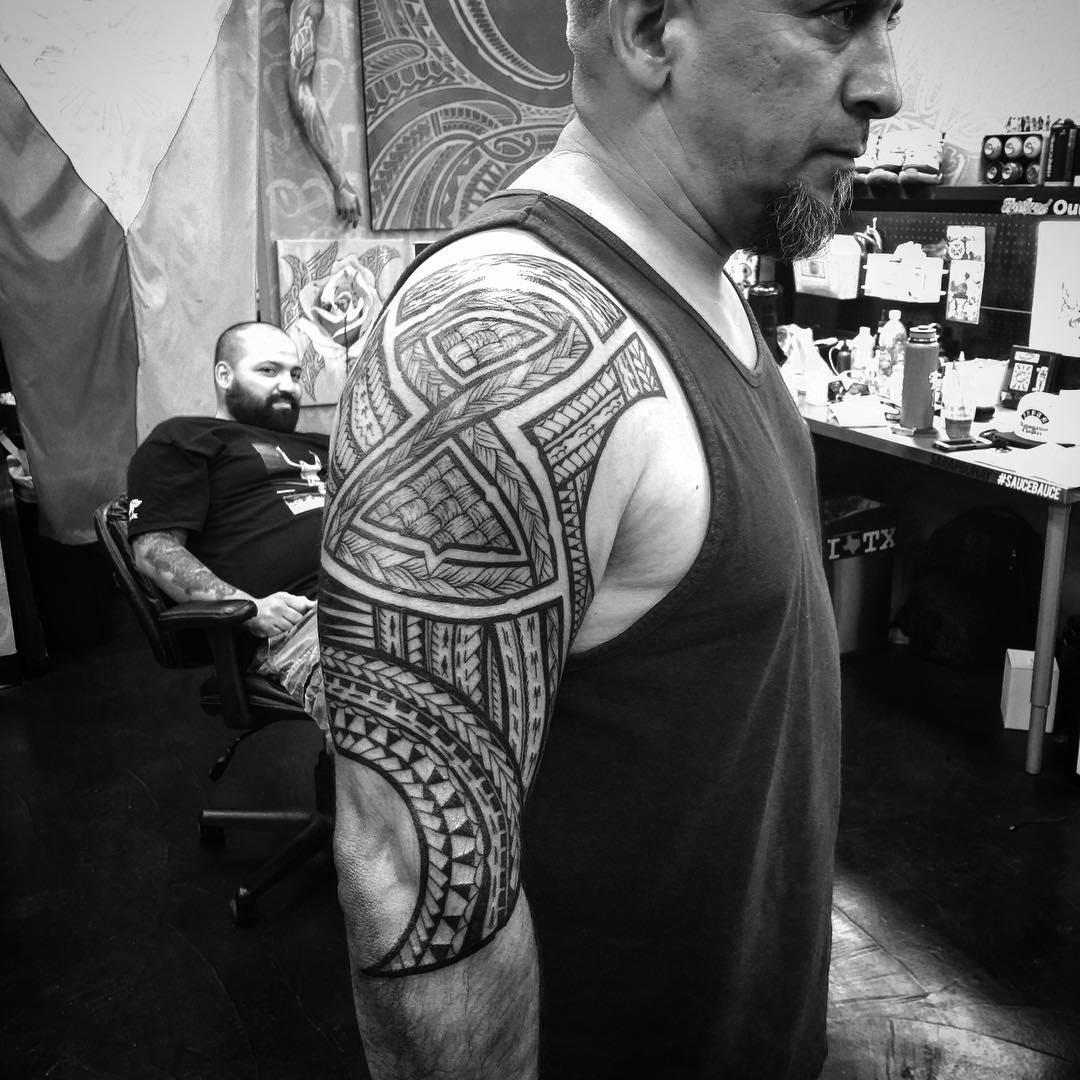 Wondrous Hawaiian Tattoo for Old Men