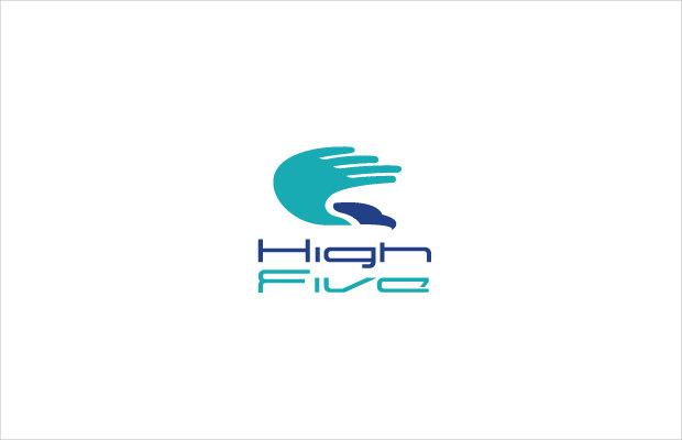 high five falcon symbol logo