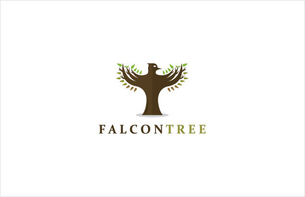 falcon symbol logo design