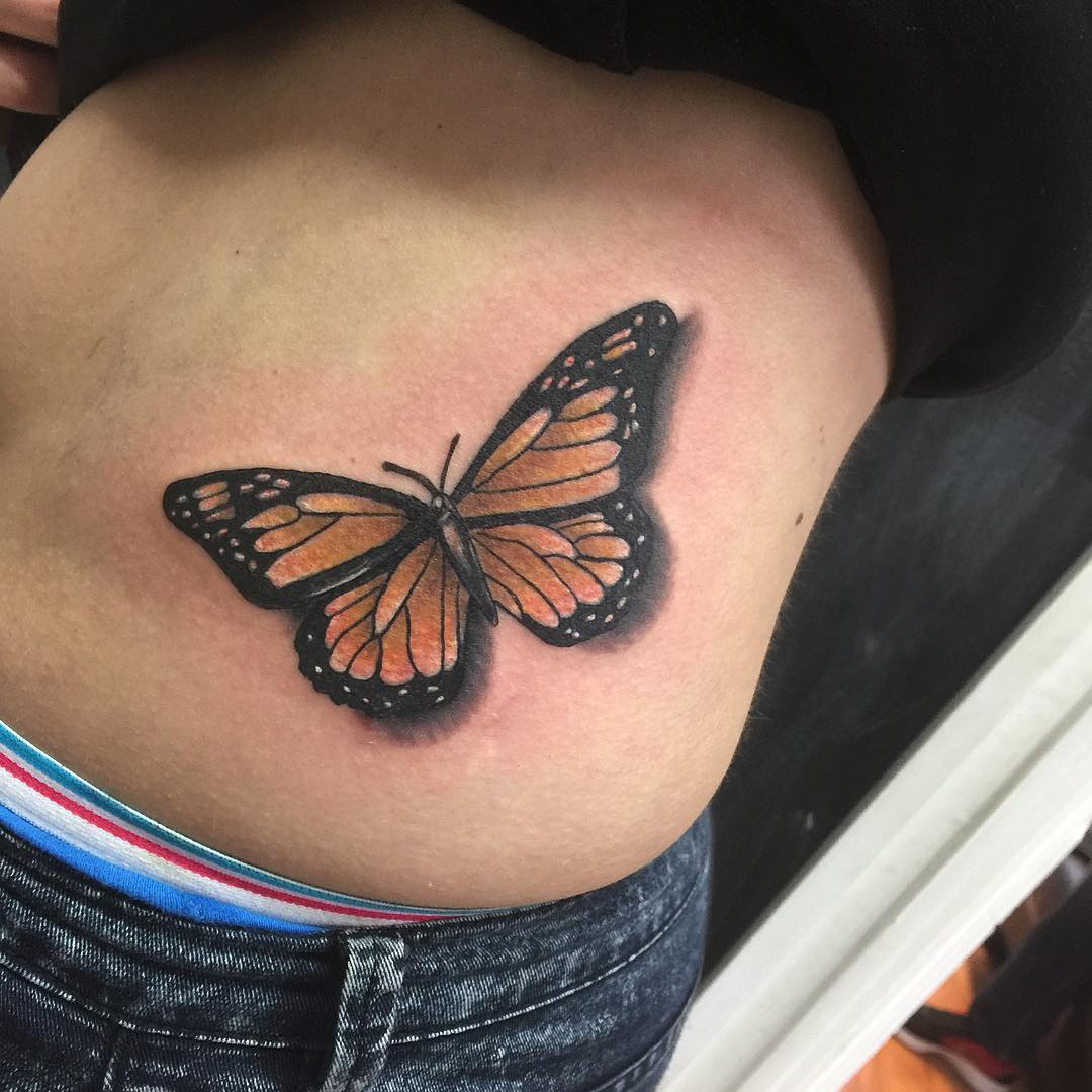 105+ Best Hip Tattoo Designs & Meanings for Girls - (2019) |Tribal Butterfly Tattoos On Hip