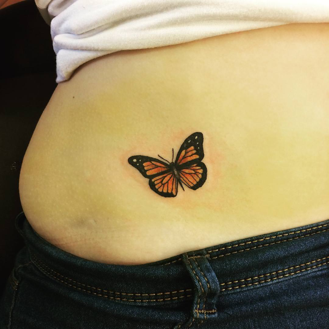 Types of Butterfly Tattoos Picture Ideas & Meaning |Tribal Butterfly Tattoos On Hip