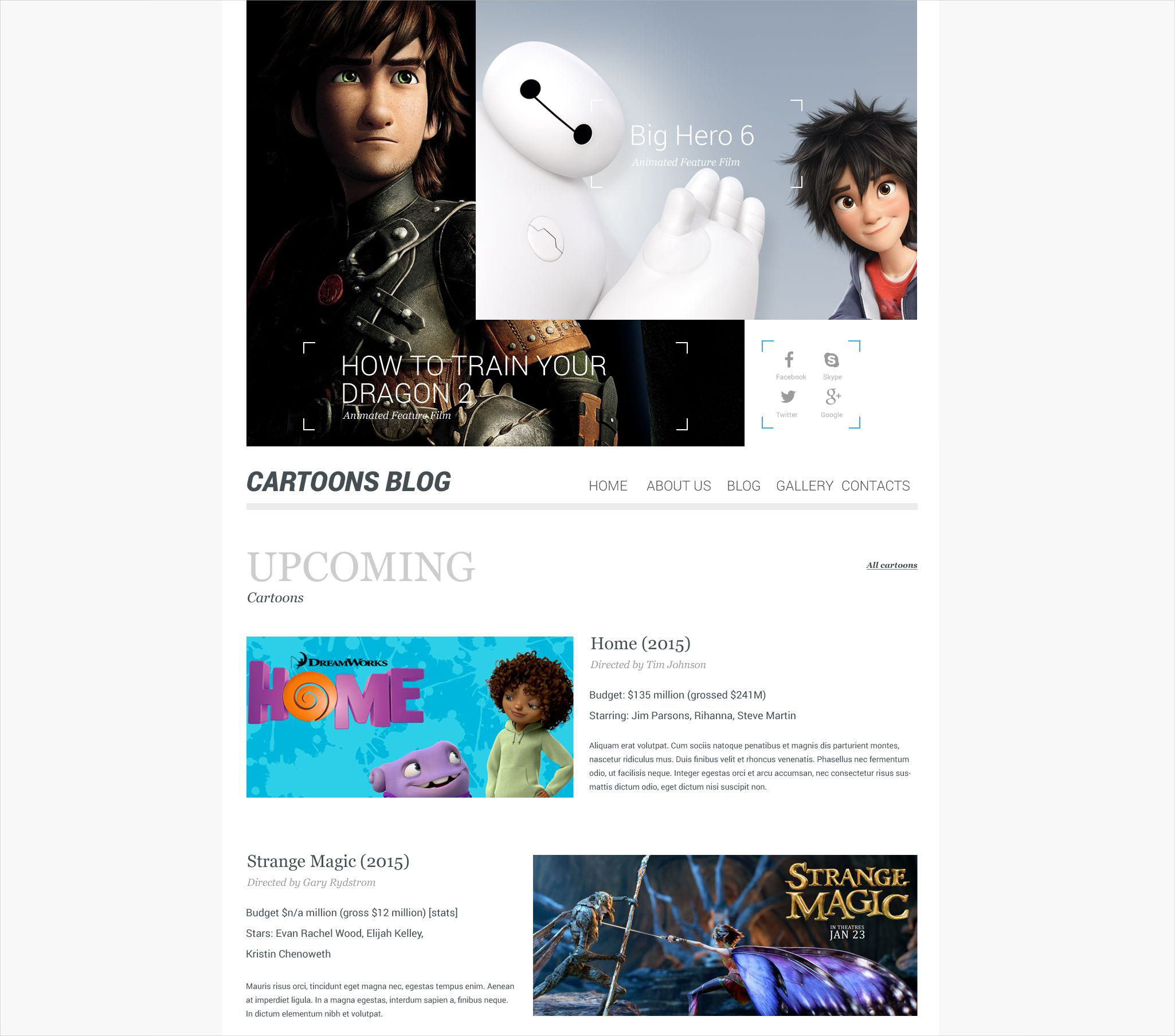 Cartoon WordPress Blog Theme