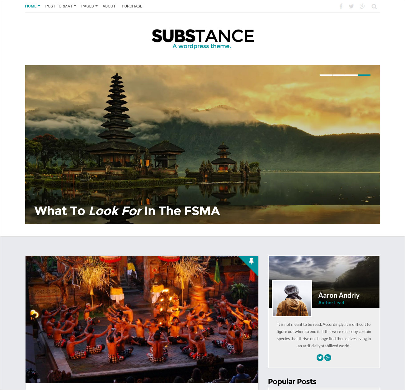Clean & Bold WP Theme