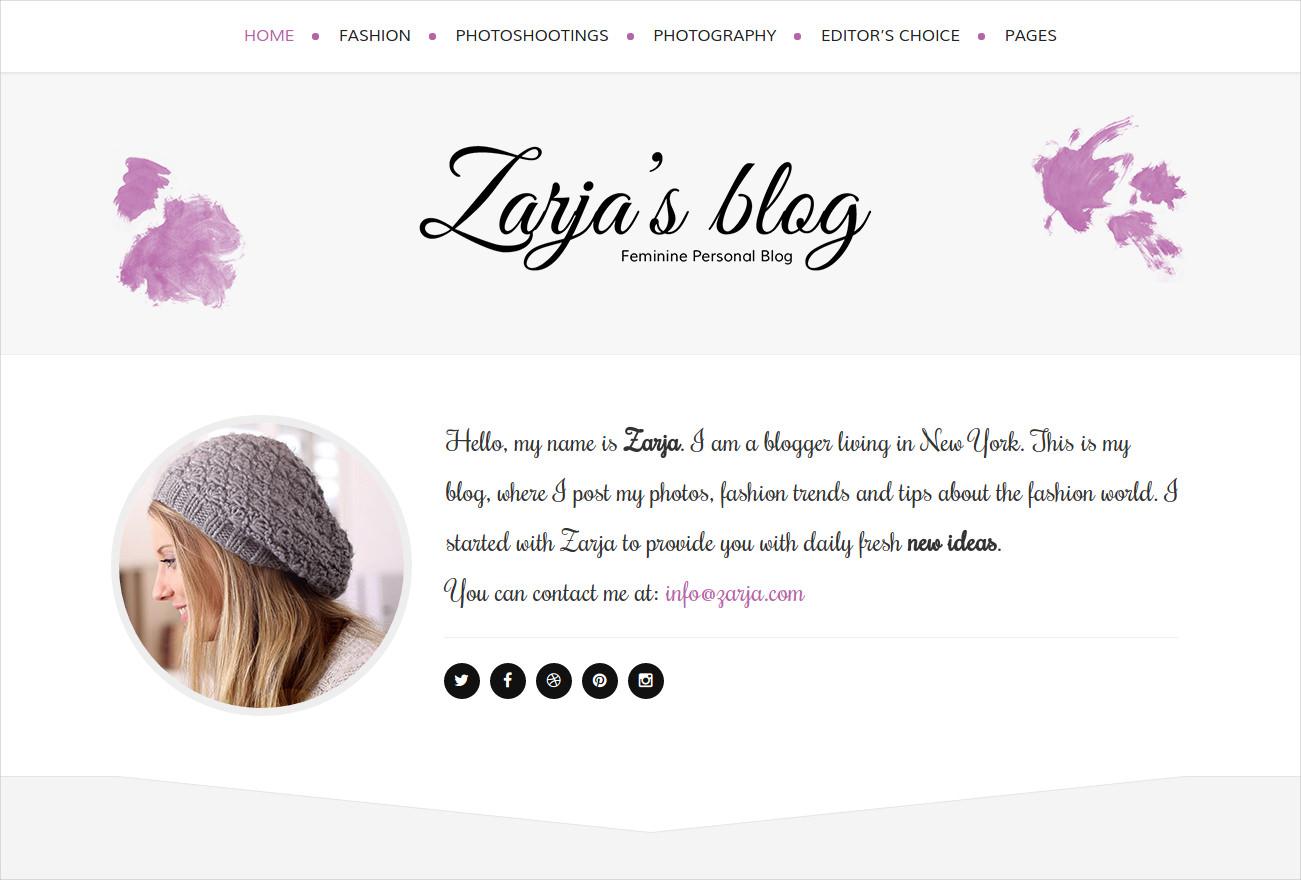 Feminine Personal Blog Theme