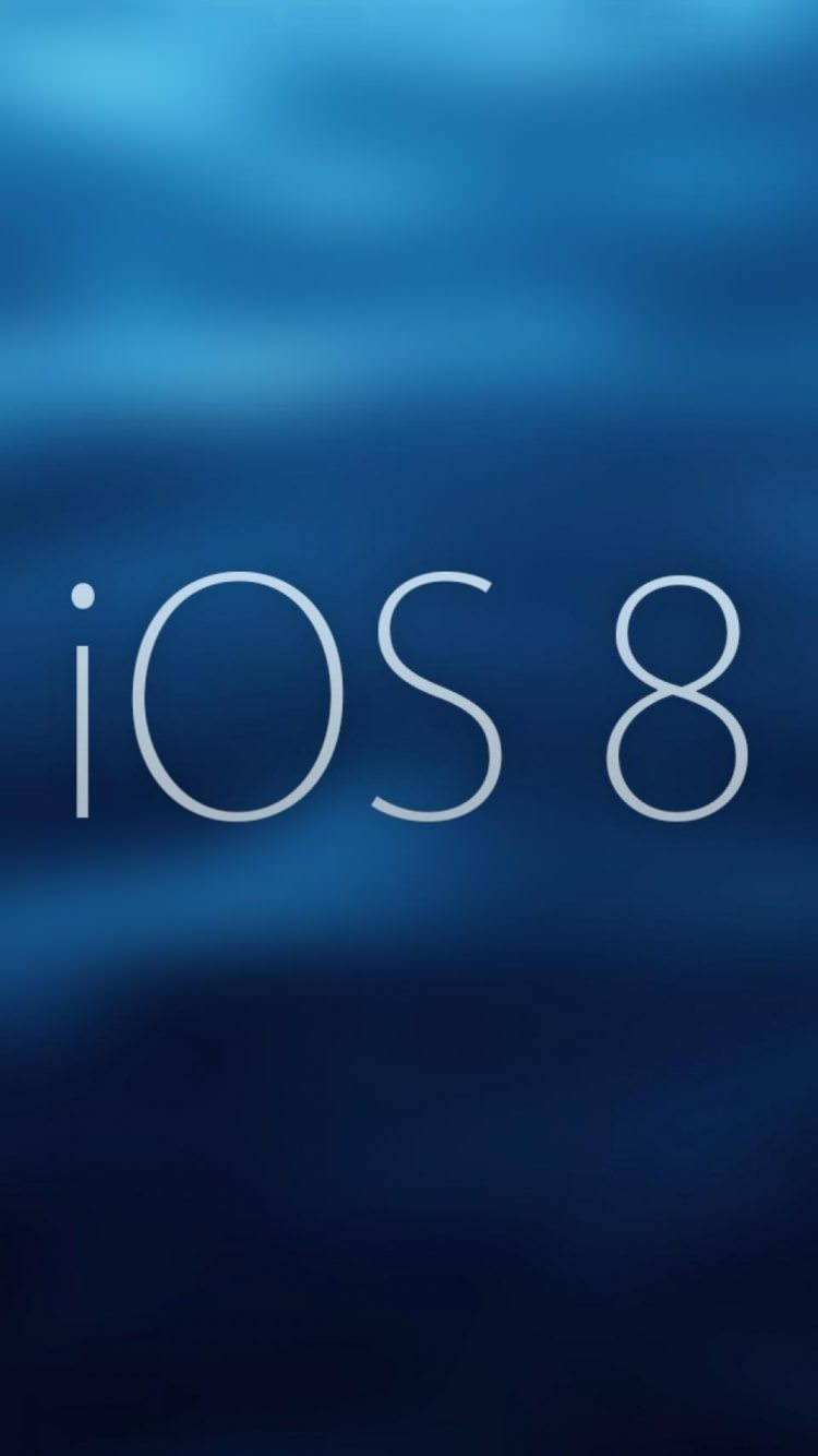 deep blue ios 8 wallpaper design