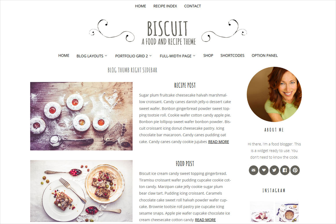 food recipe blog theme 29