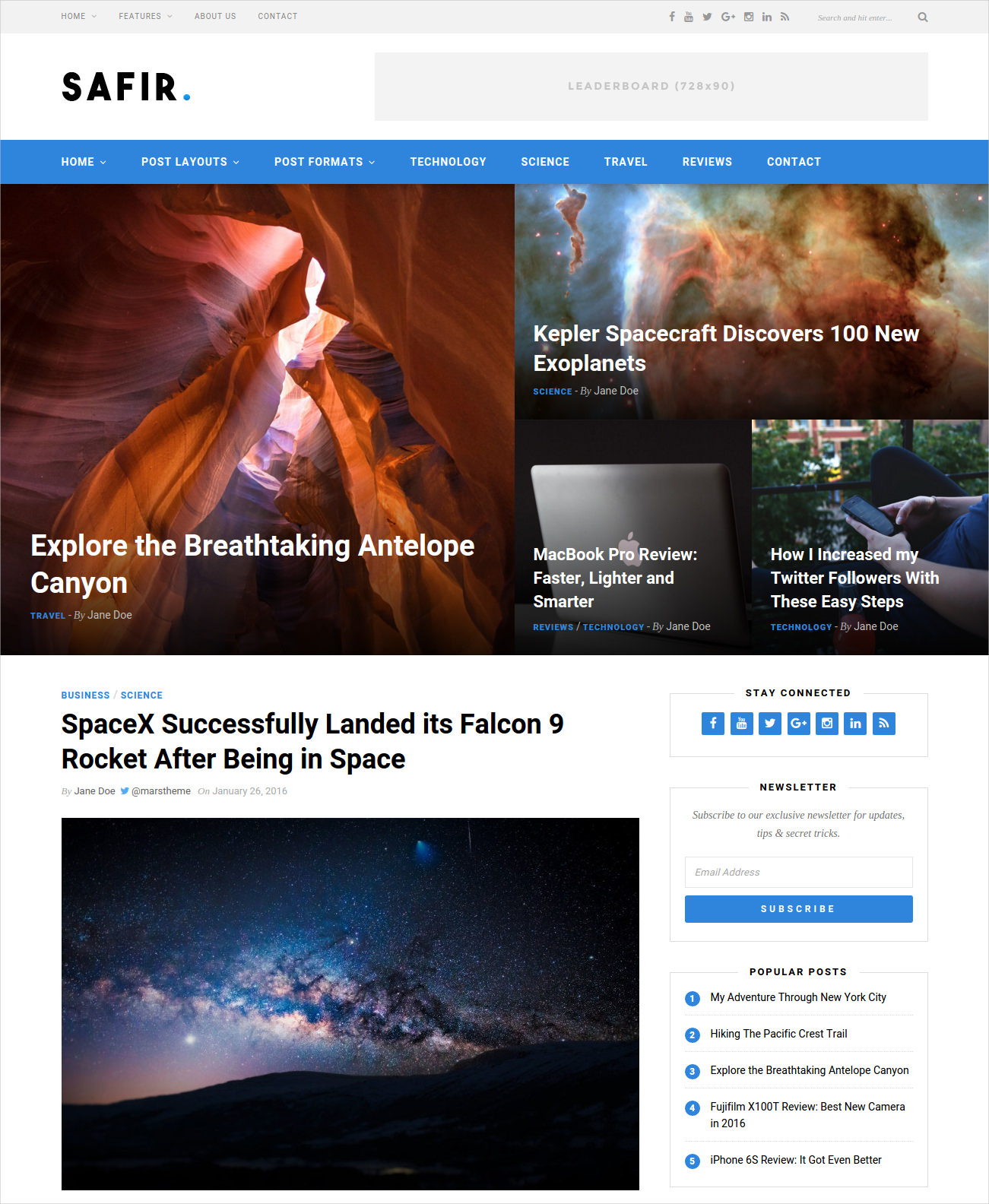 Striking WordPress Blog Theme