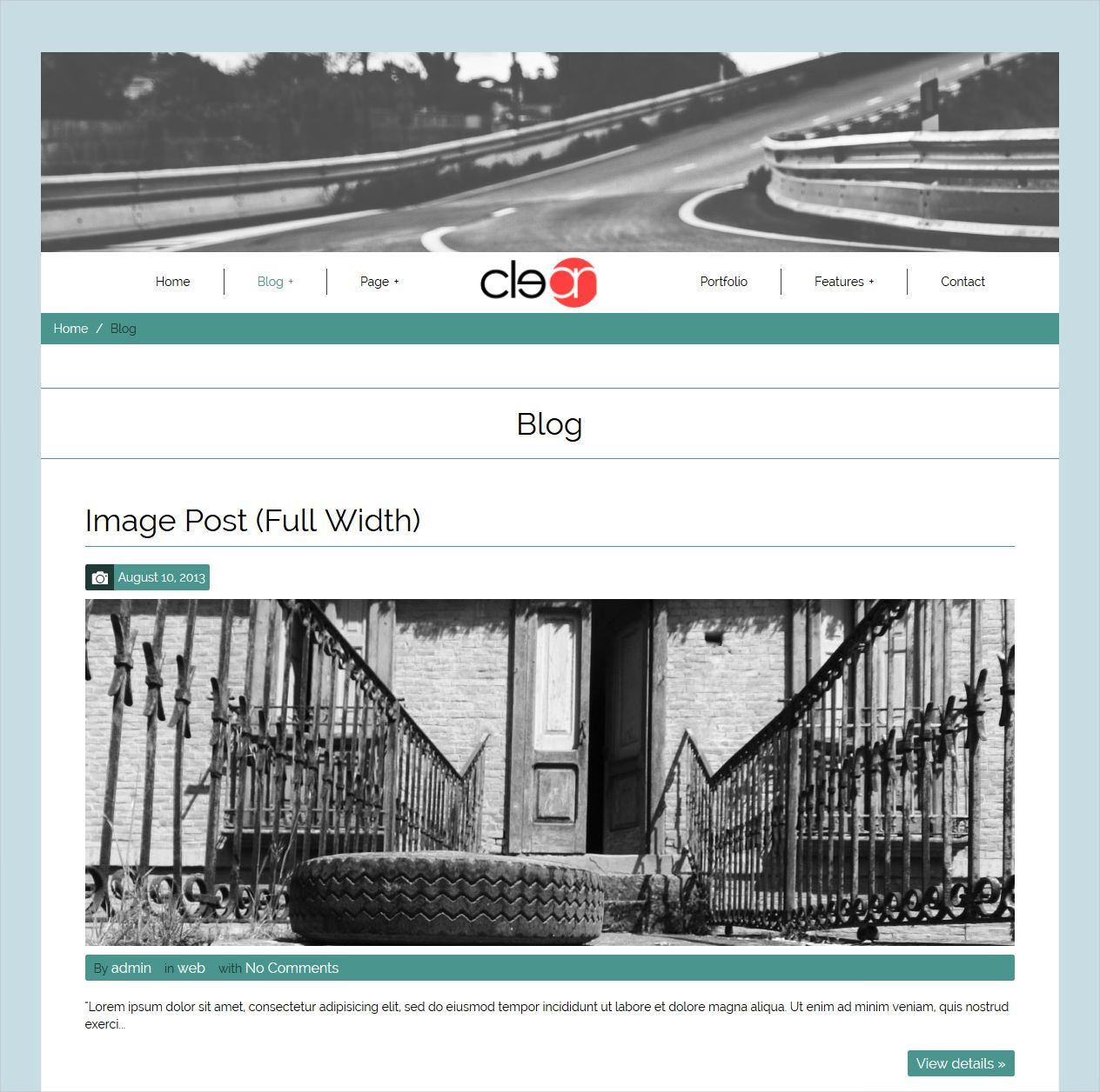 Twitter Bootstrap Framework Blog Theme