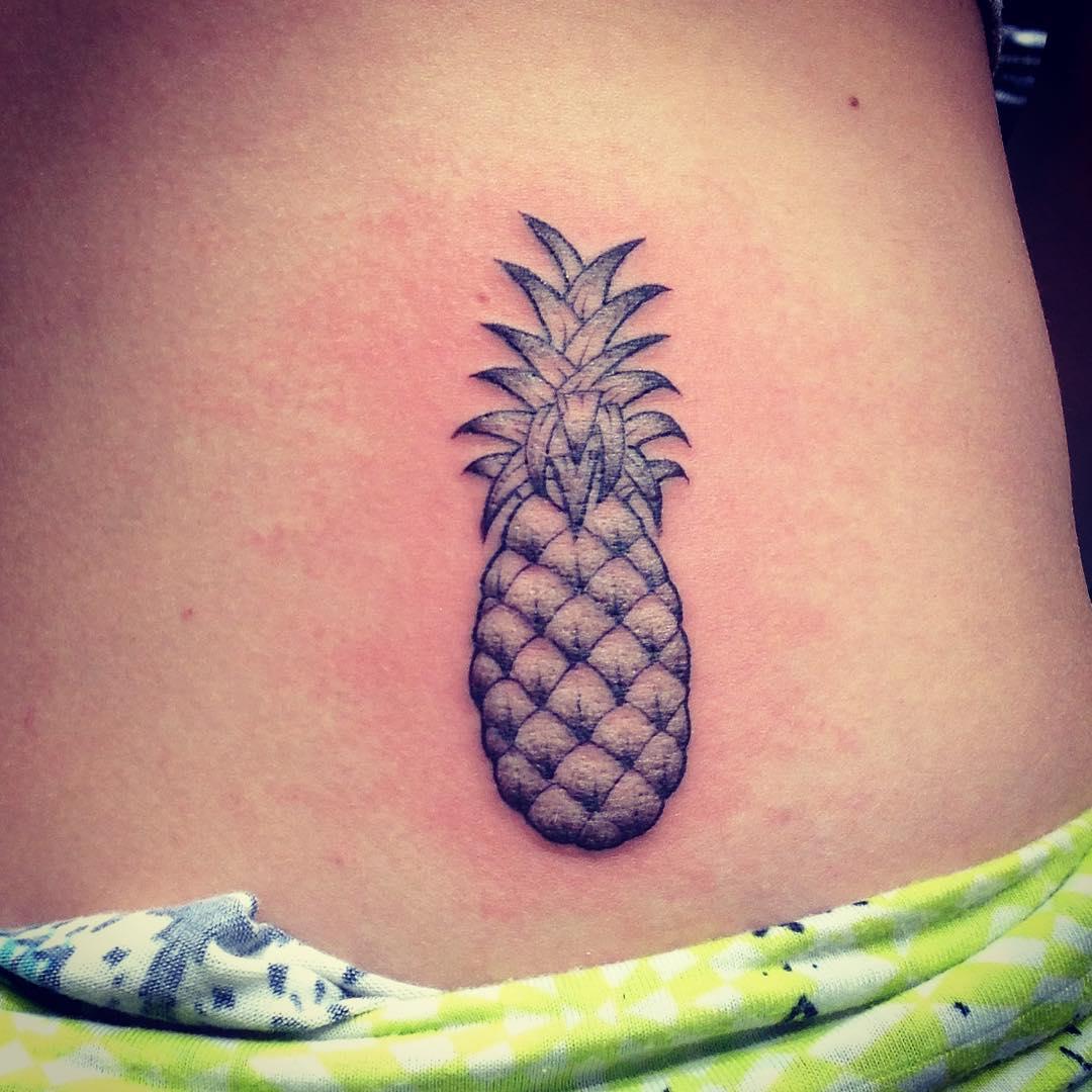 pineapple tattoo on hip