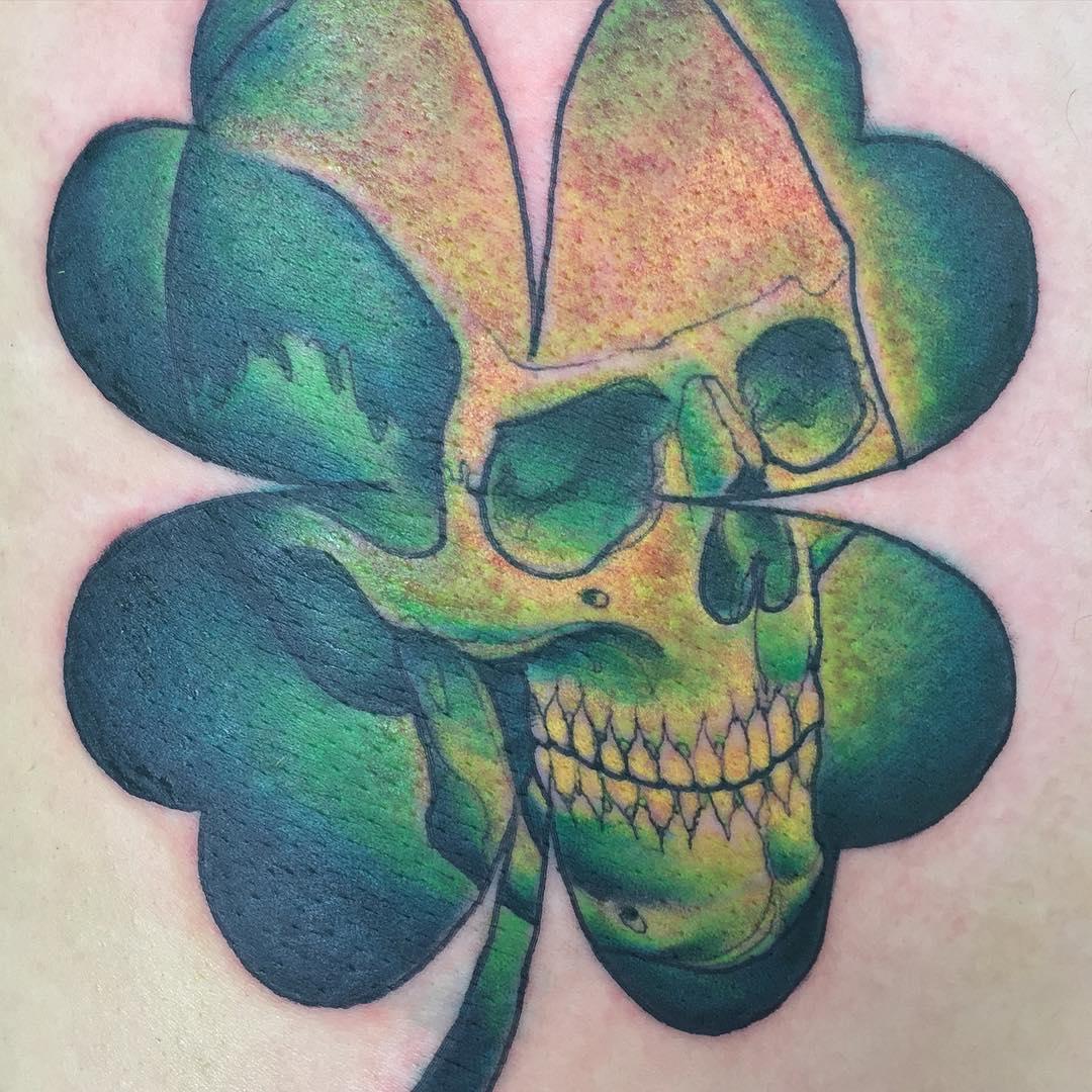 Skull Irish Tattoo