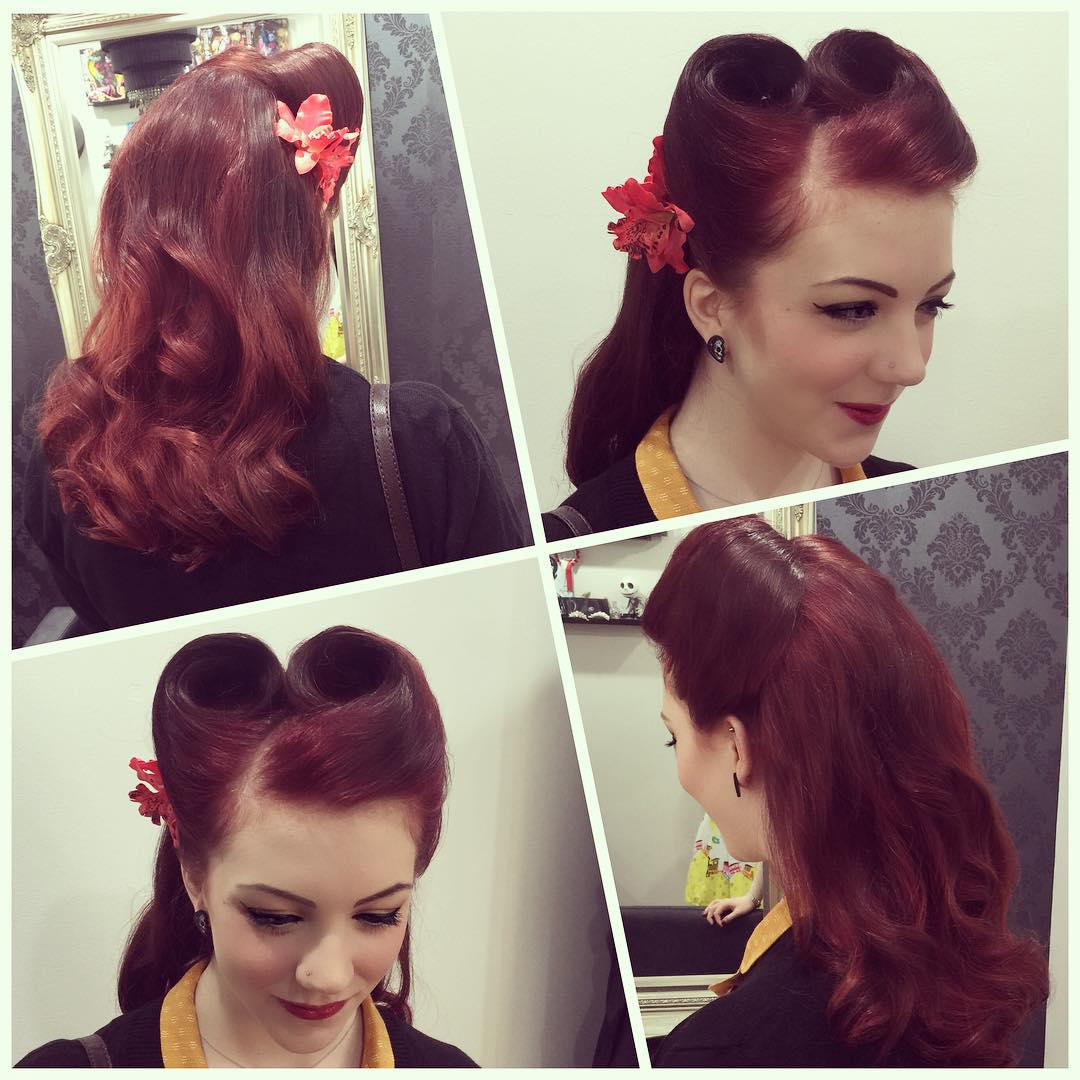Victory Rolls Hair