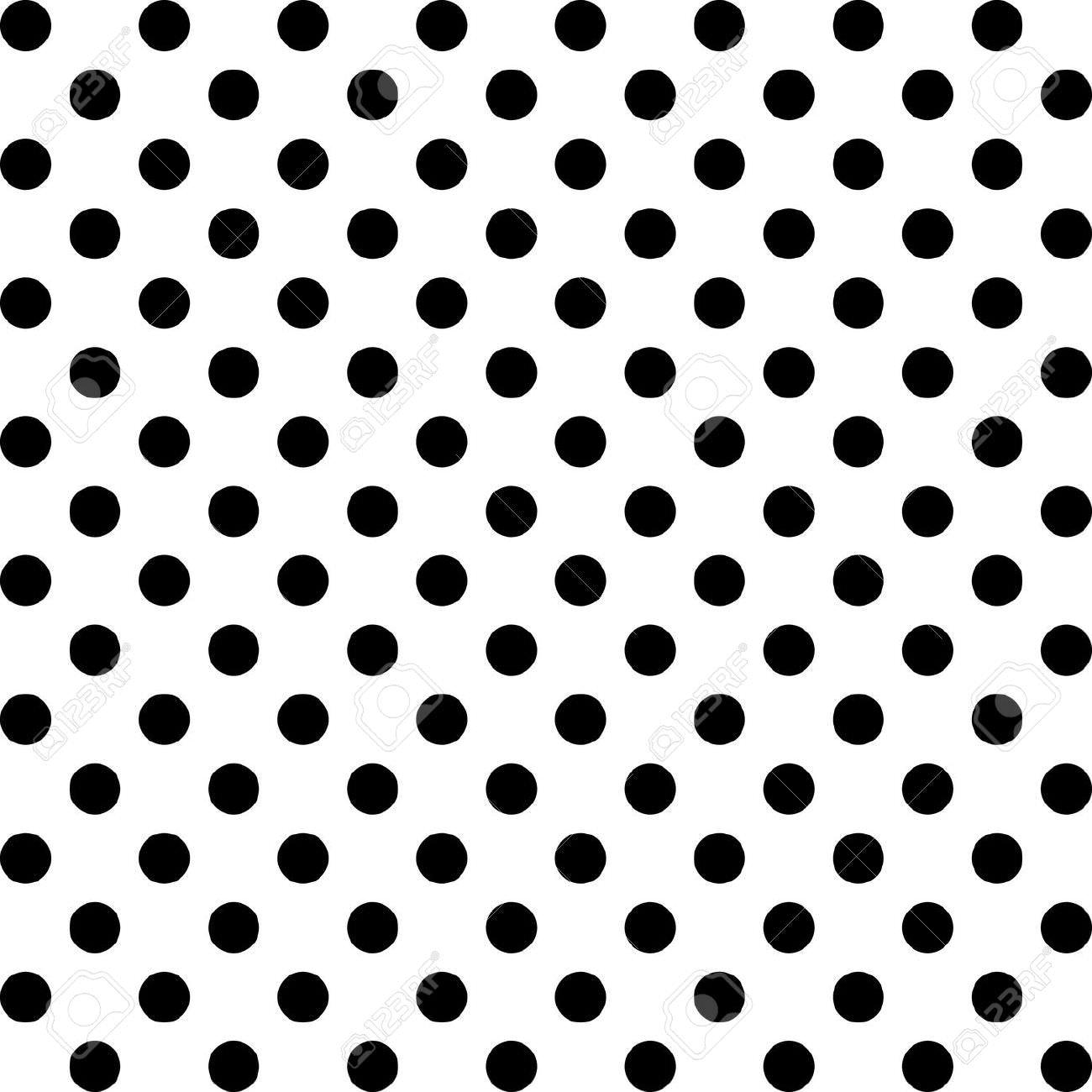 Black an White polka dots
