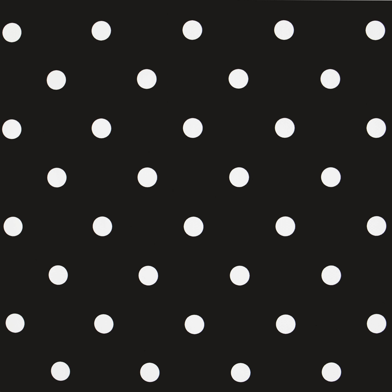 Black and White PVC Polka