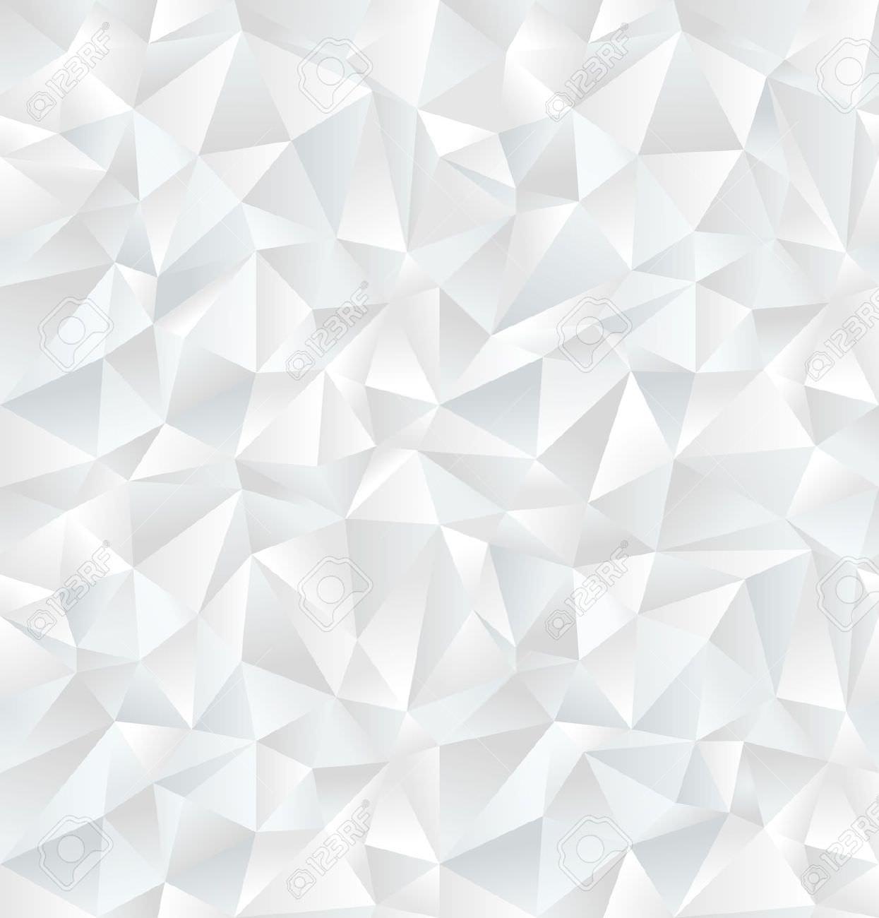 White Geometric Pattern