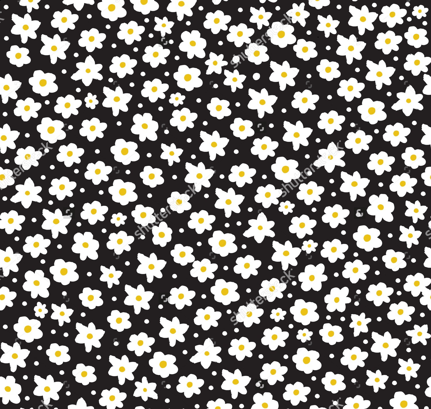 Daisy pattern wallpaper - photo#5