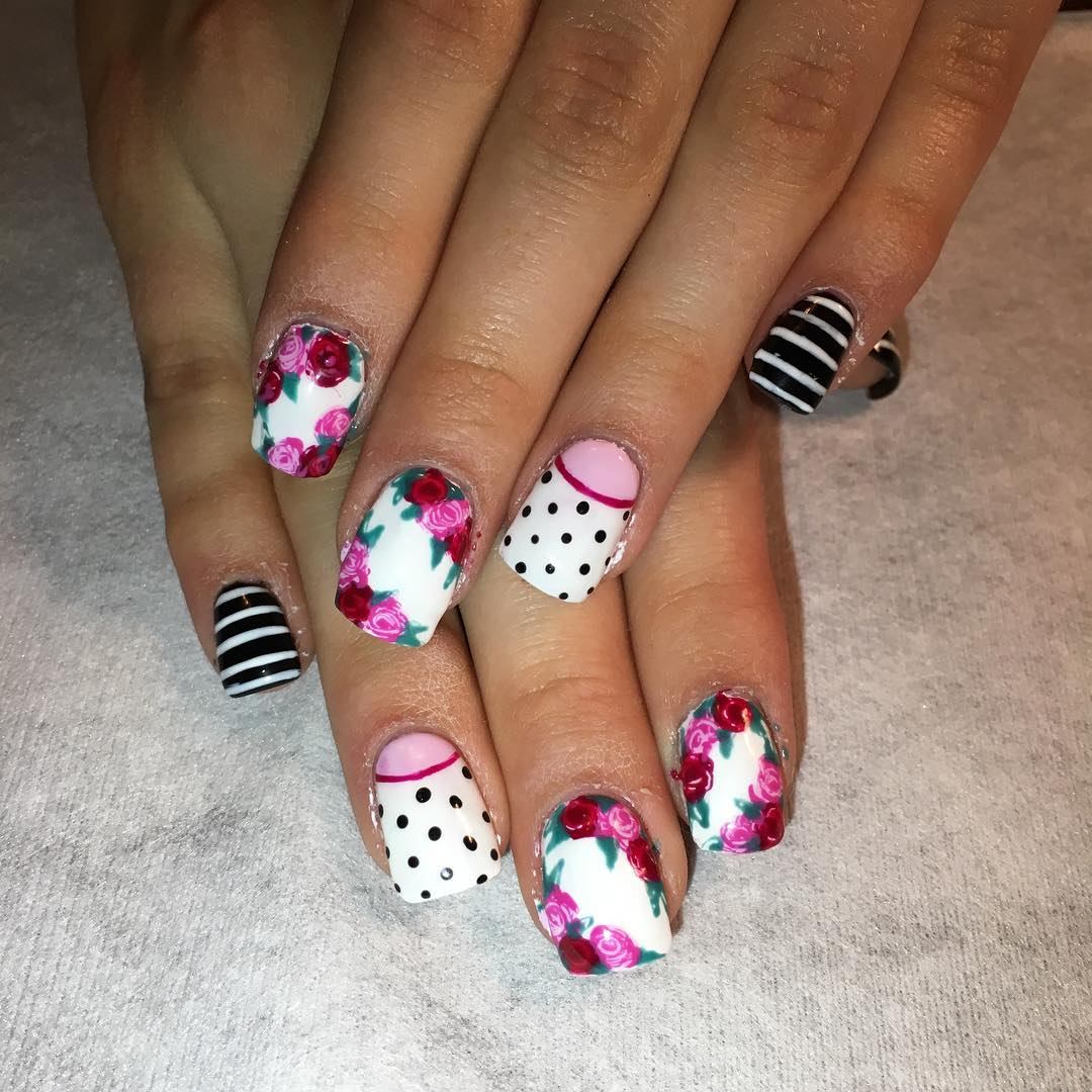 Excellent Floral Nail Design