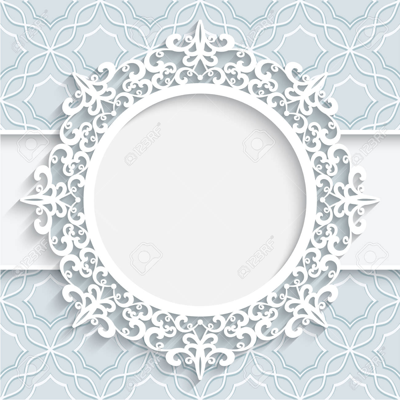 White Lacy Background