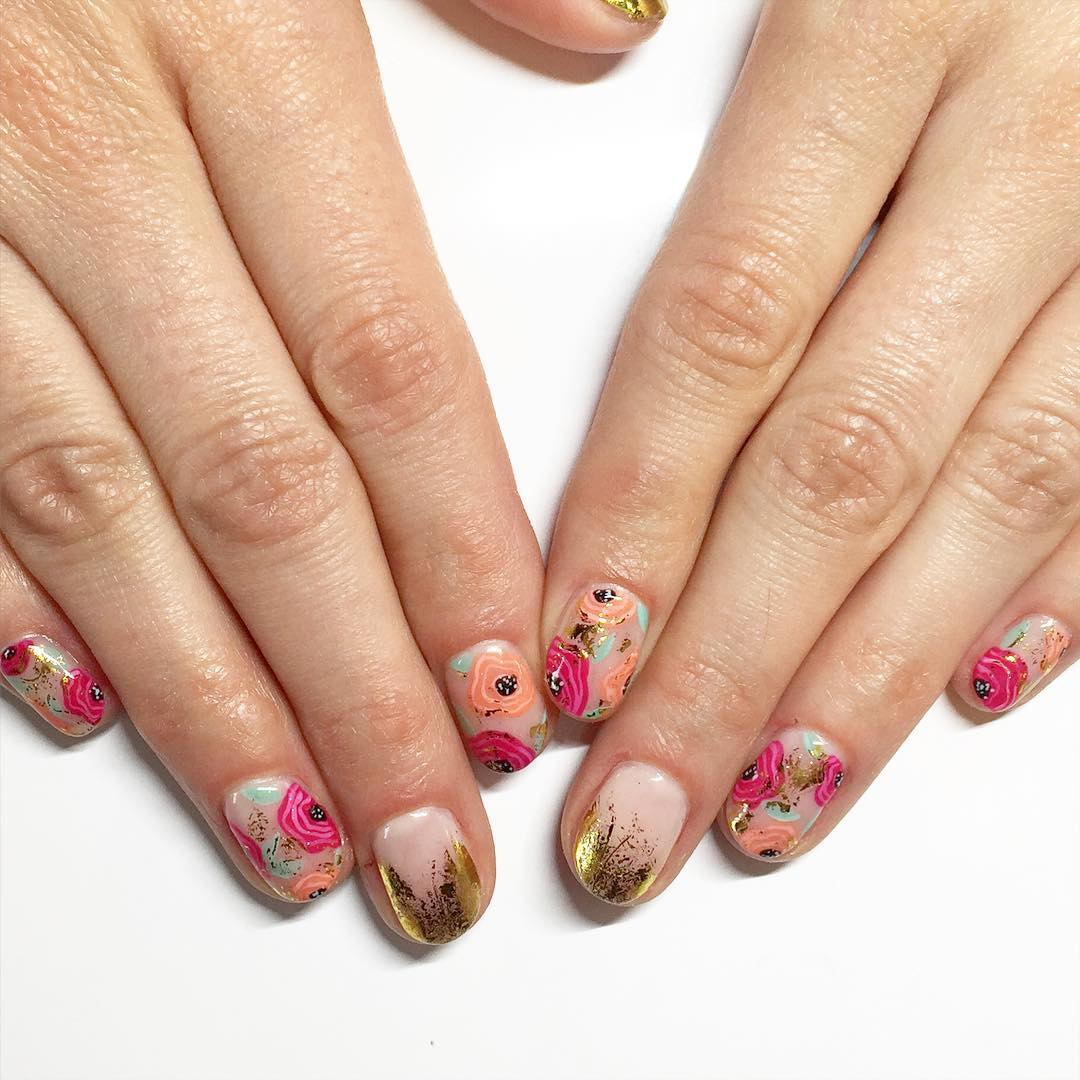27 Floral Nail Art Designs Ideas Design Trends Premium Psd