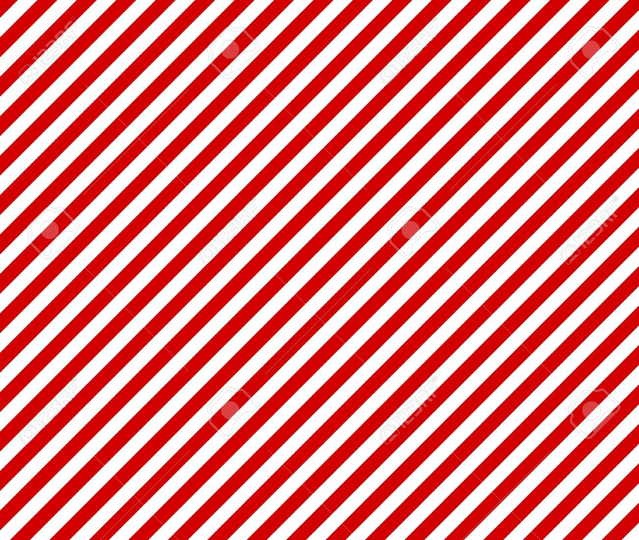 Red and White Diagonal Stripes
