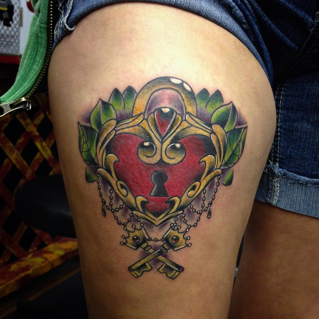 25+ Heart Locket Tattoo Designs , Ideas