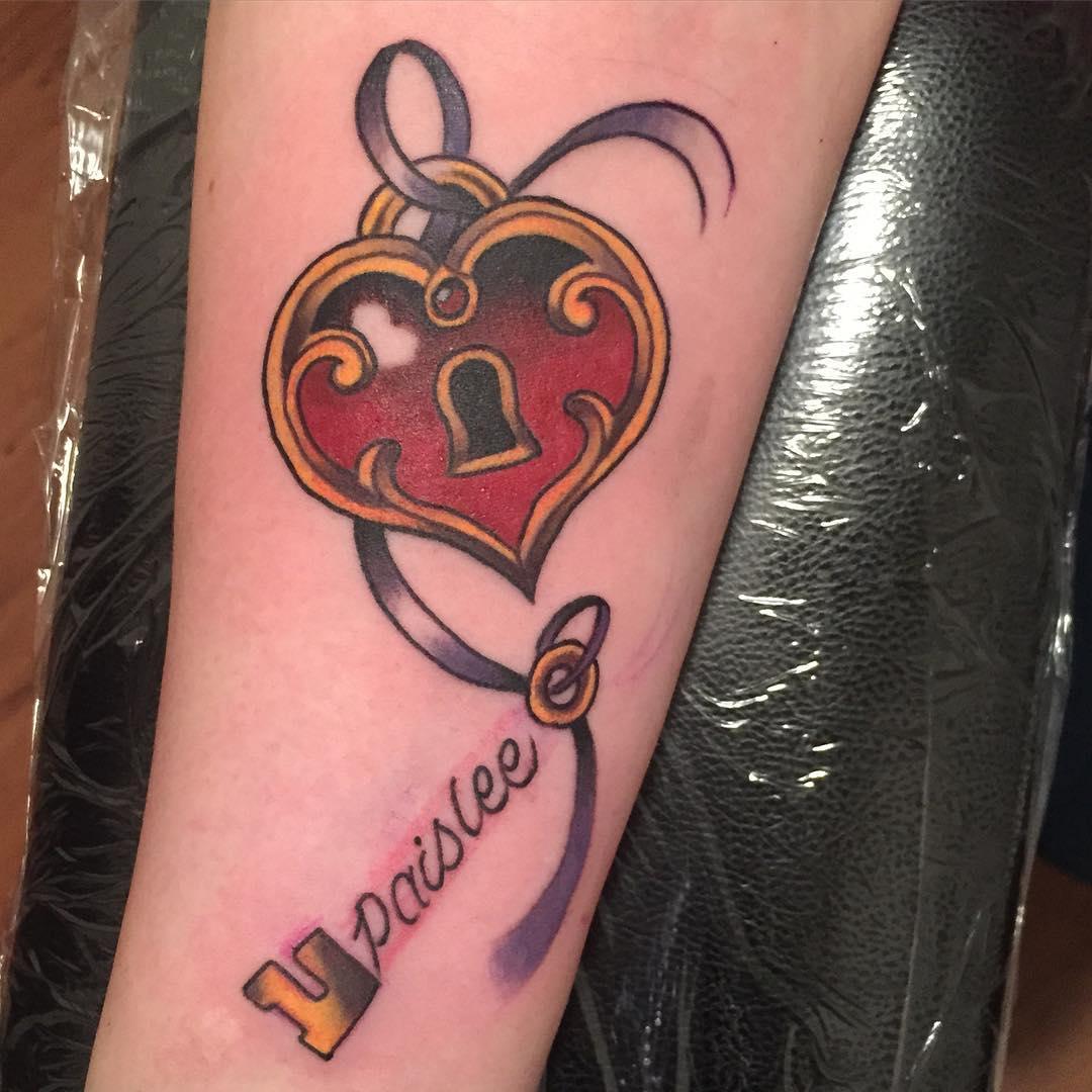 Beautiful Heart Locket Tattoo Design