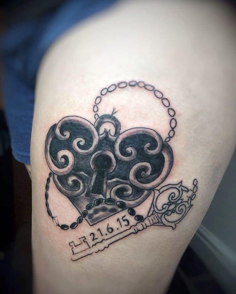 Lovely Heart Locket Tattoo Design