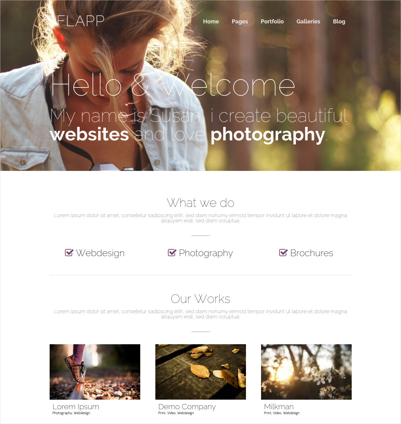 Beautiful Photography Website Theme