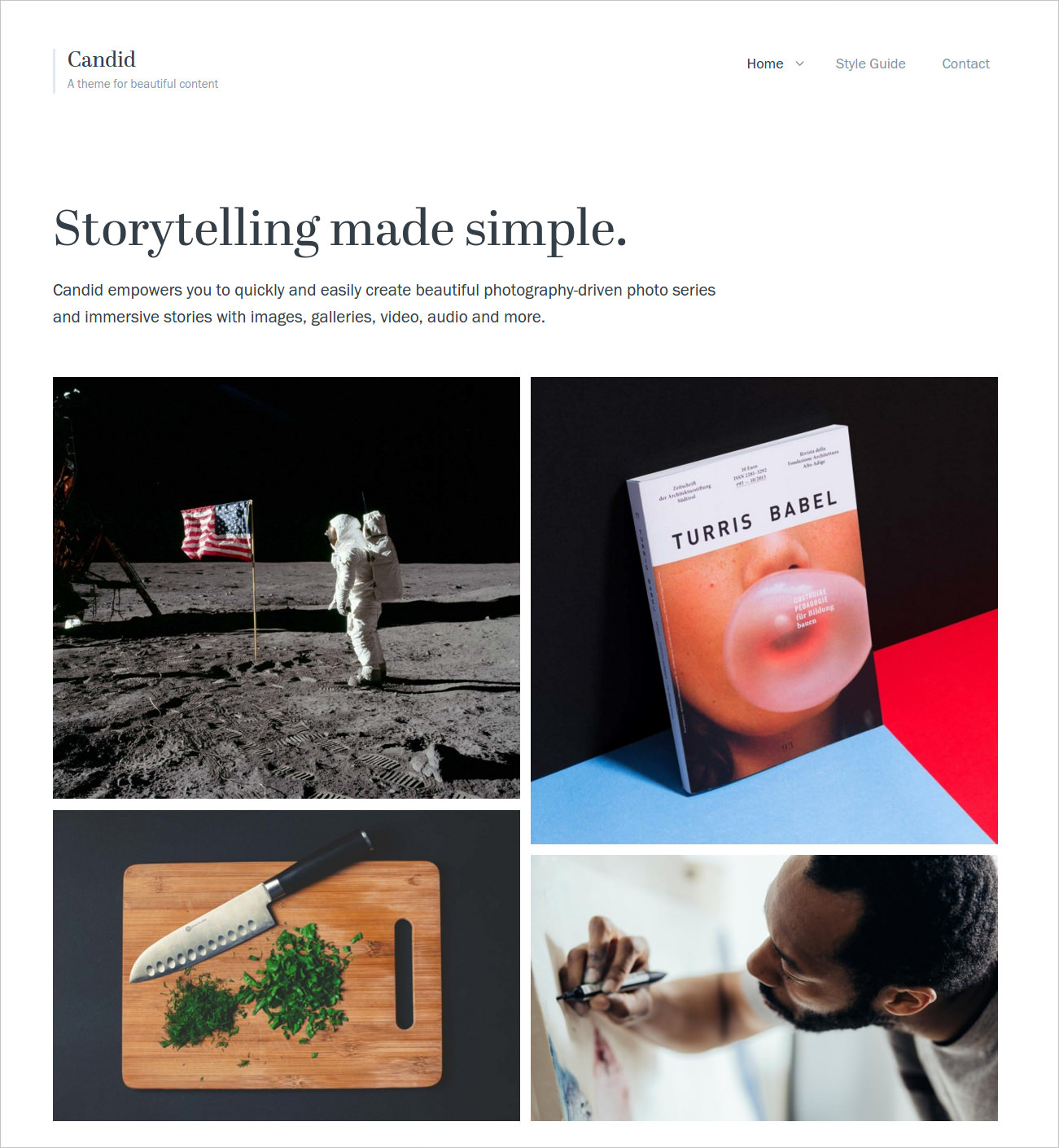 Beautiful Photography Blog Theme