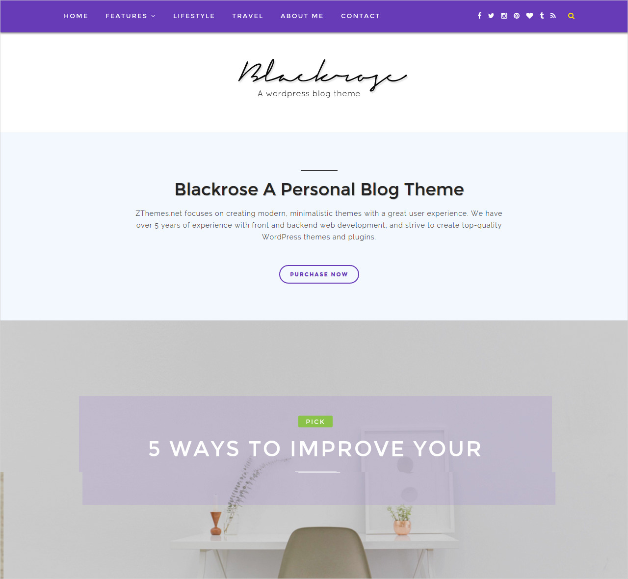 Blog Photography Theme