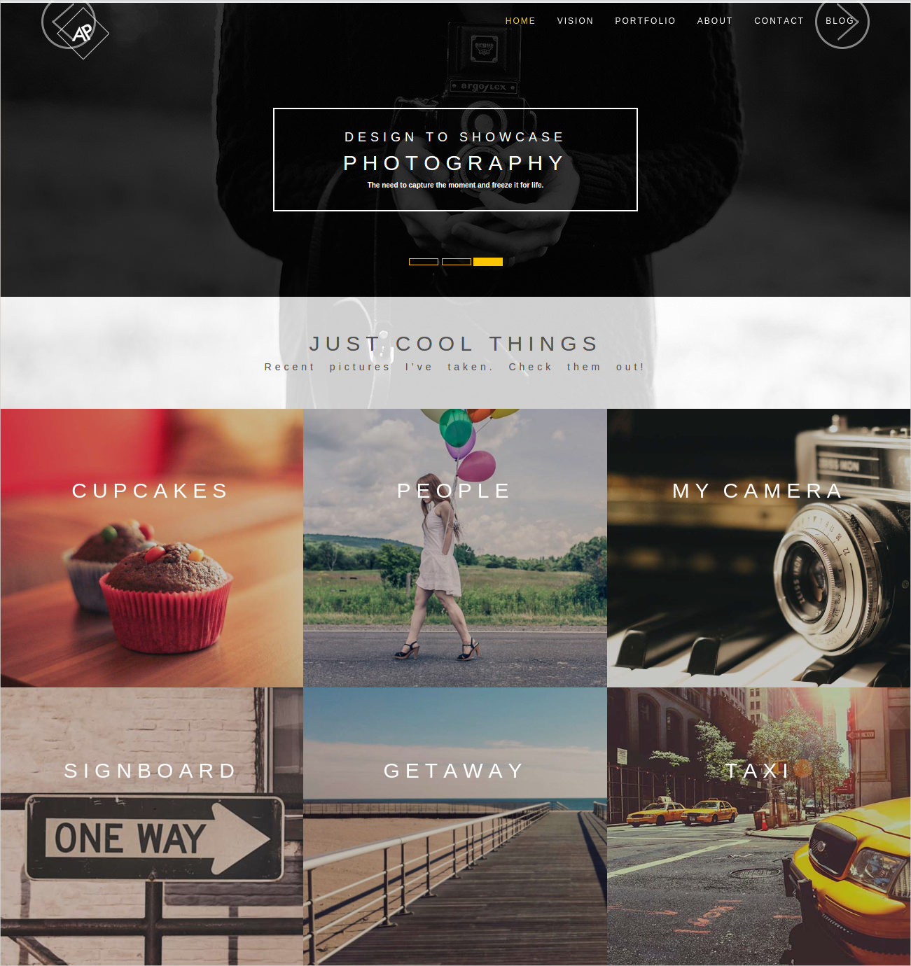 Bootstrap WP Photography Theme