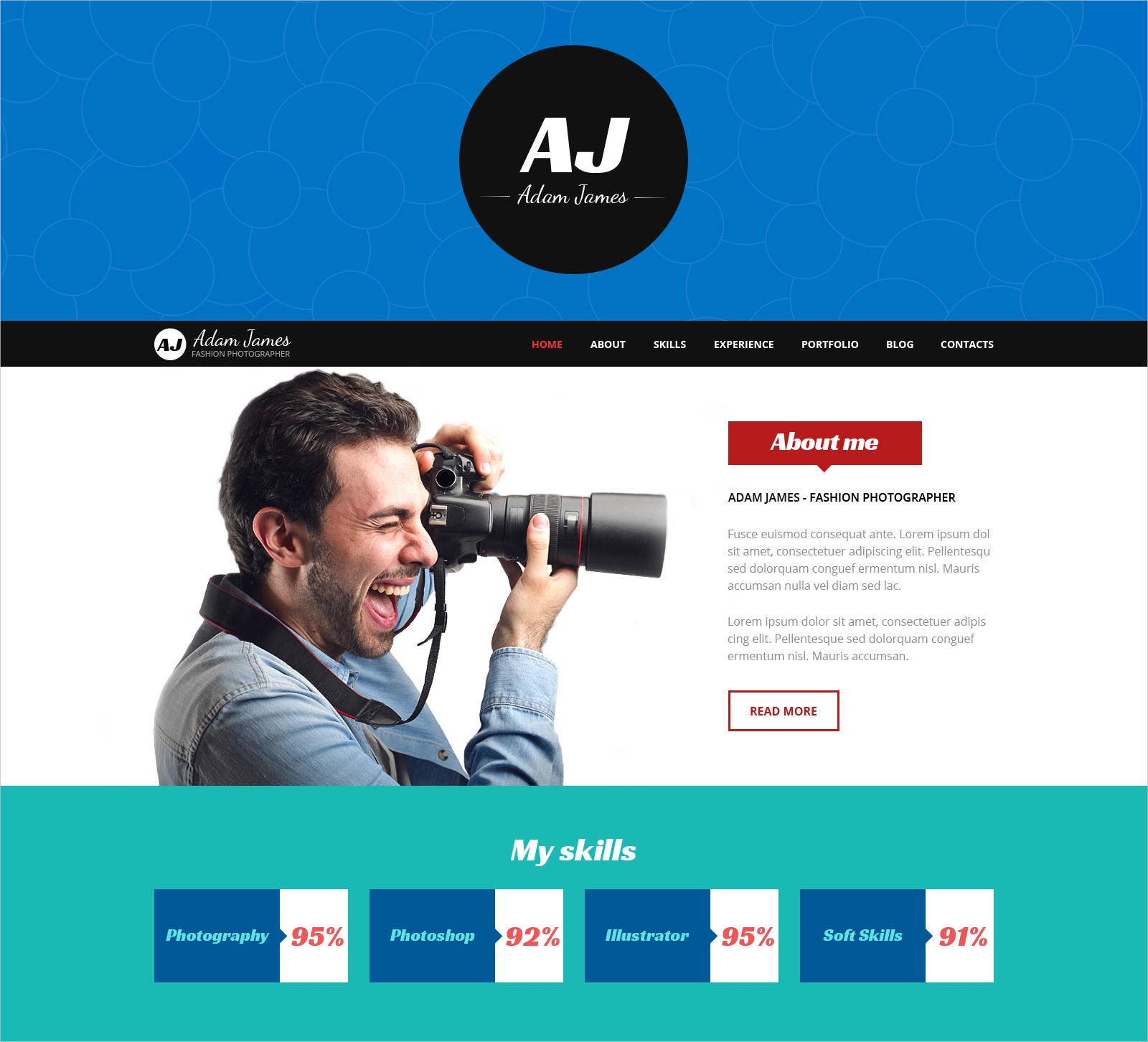 Fashion Photographer WP Theme