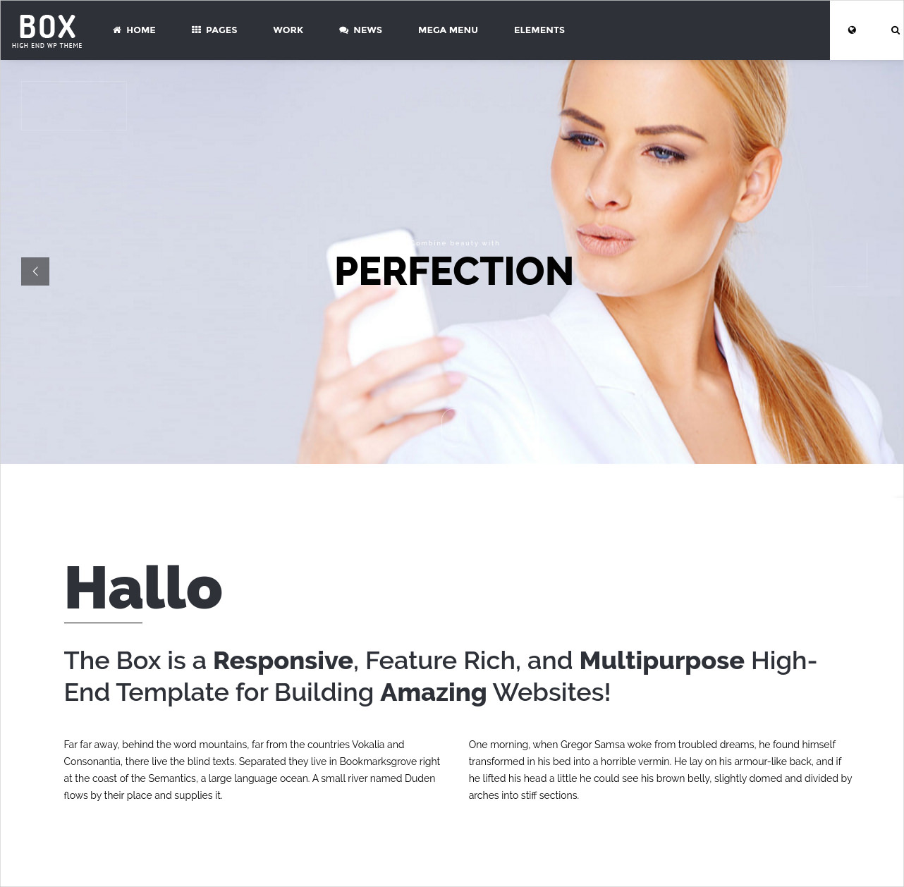 Flexible Photography WP Theme