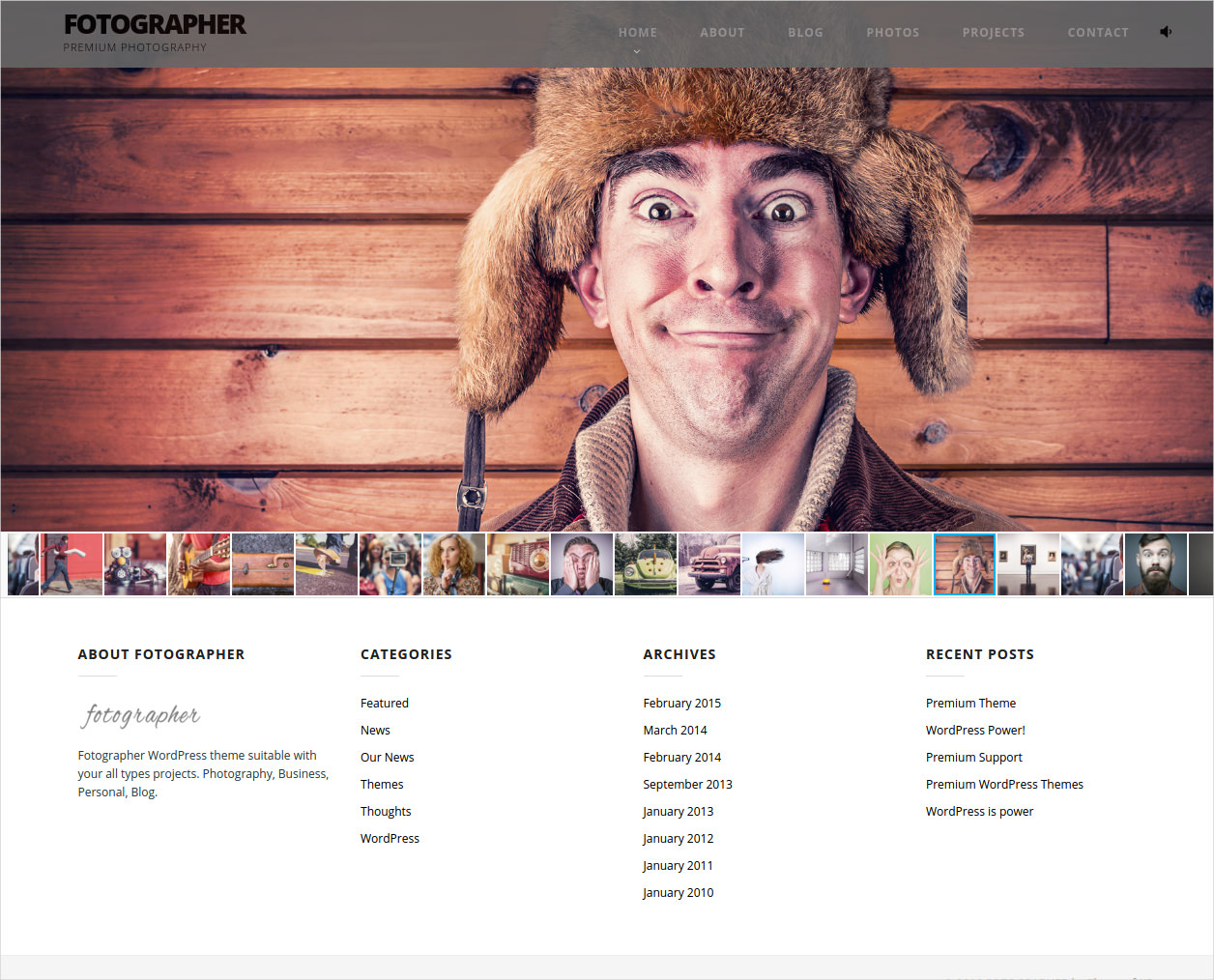 Fotographer WP Theme